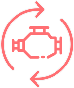 Replacement and spare parts icon